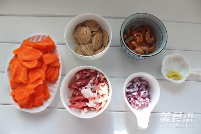 胡萝卜海鲜饭的家常做法