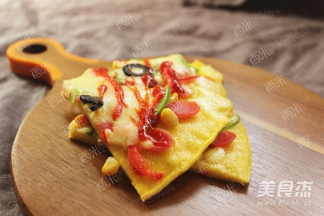 早餐披萨成品图
