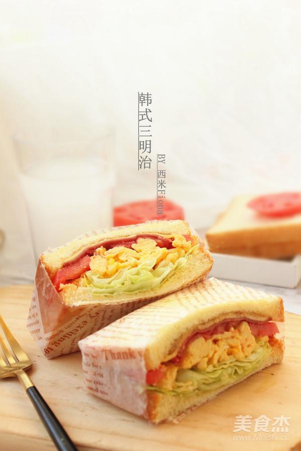 韩式三明治成品图