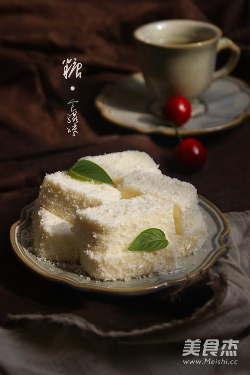 椰奶冻糕成品图