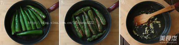 青椒酿肉的家常做法