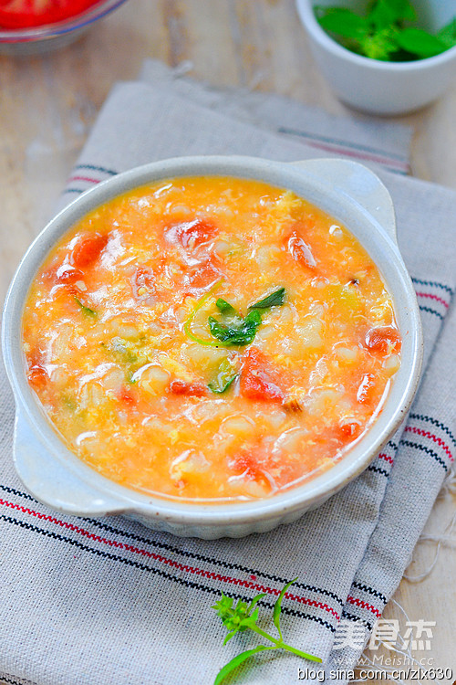 番茄疙瘩汤成品图