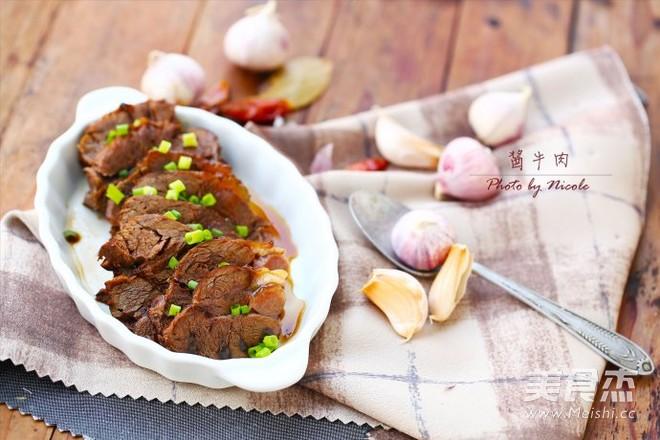 暖胃驱寒的酱牛肉成品图