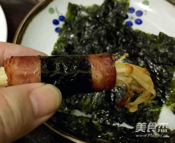 海苔培根金针菇卷怎么煮