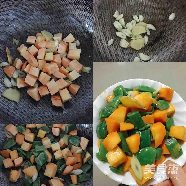 红薯鸡肉刀豆焖饭怎么做