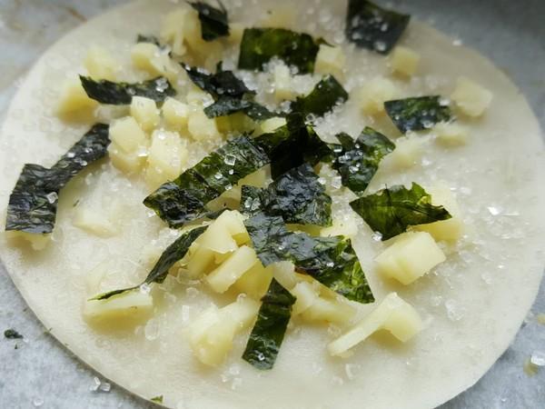 海苔芝士脆(饺子皮版)怎么炒