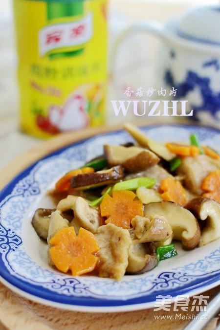 香菇炒肉片成品图
