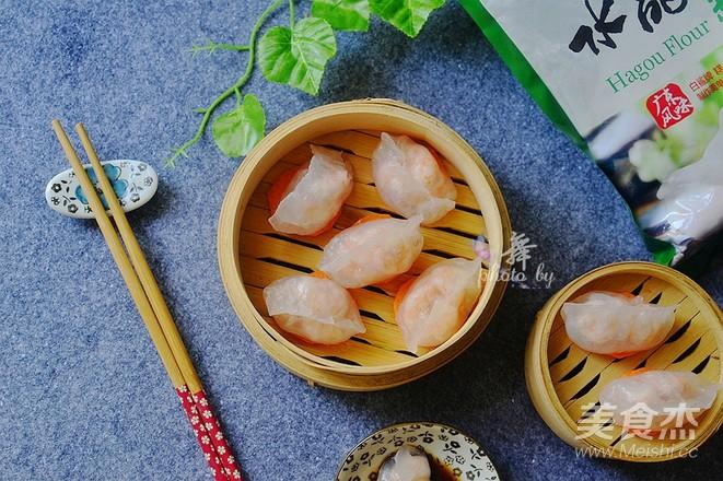 水晶虾饺成品图