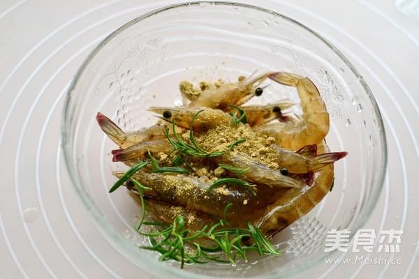 迷迭香盐焗虾的做法图解