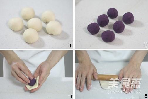 紫薯面包卷的做法图解
