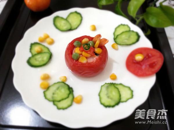 茶香虾仁番茄盅怎么炖