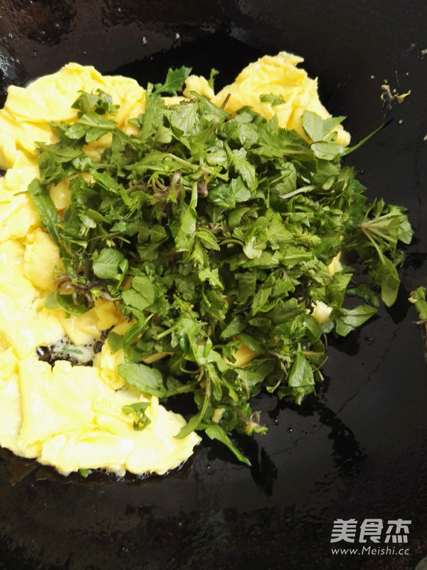 荠菜炒鸡蛋怎么吃