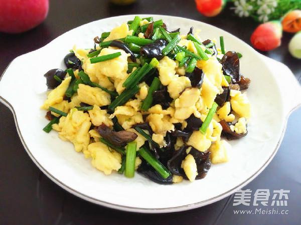 韭苔黑木耳炒鸡蛋怎么煮