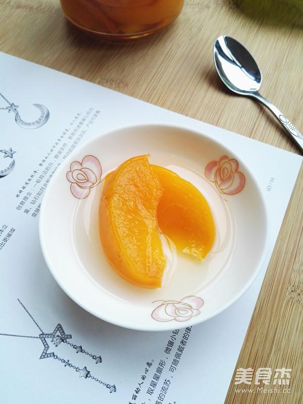 冰糖黄桃的家常做法