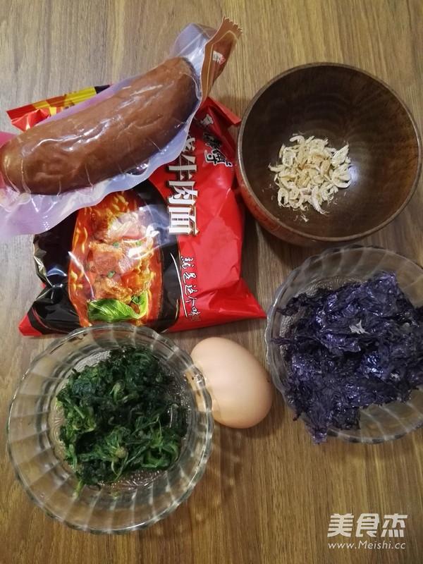 红肠鸡蛋方便面的做法大全