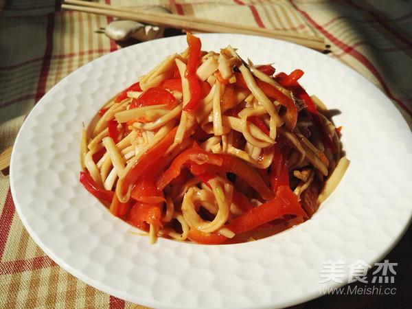 红椒杏鲍菇怎么煮