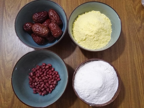 大枣花生玉米面发糕的做法大全