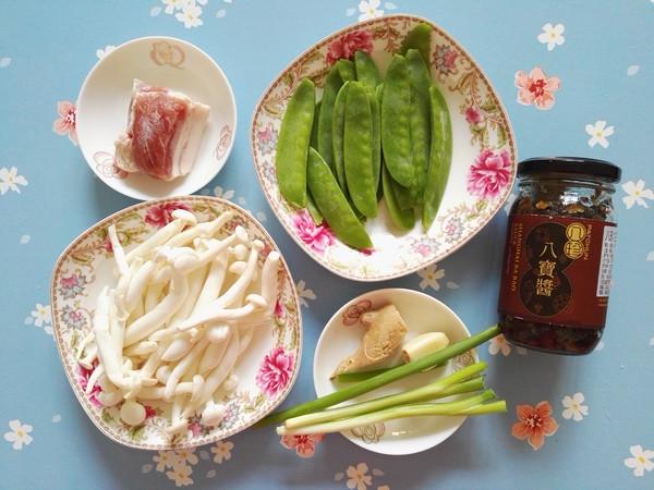 白玉菇荷兰豆炒五花肉的做法大全