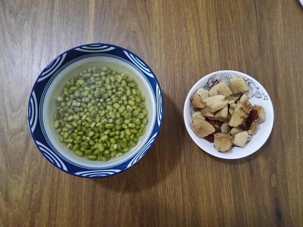 绿豆红枣粥的步骤