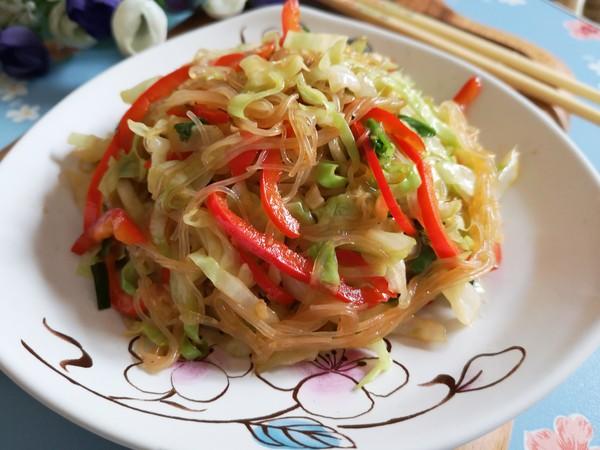 素炒粉丝卷心菜怎样炒