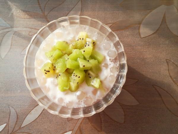 猕猴桃酸奶西米羹怎么做