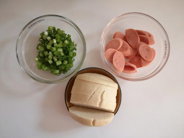 菜芯火腿鸡蛋汤面的做法图解
