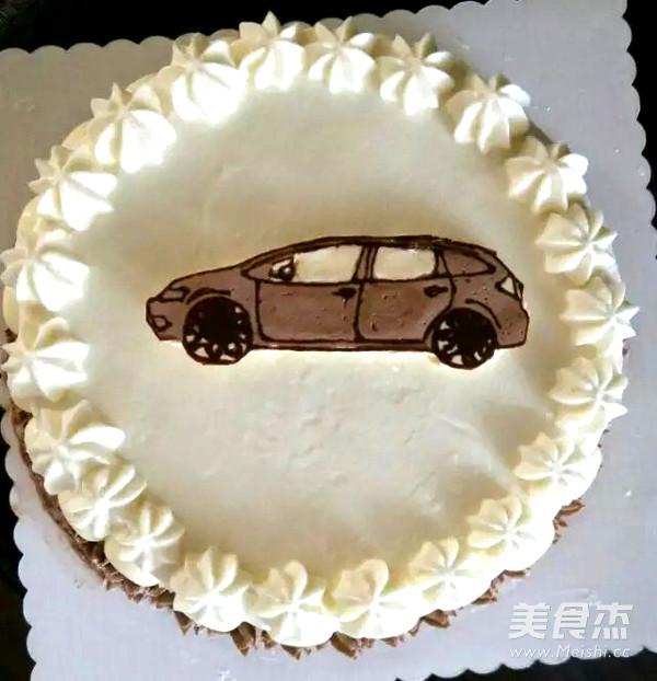 奶油霜转印汽车蛋糕的做法大全