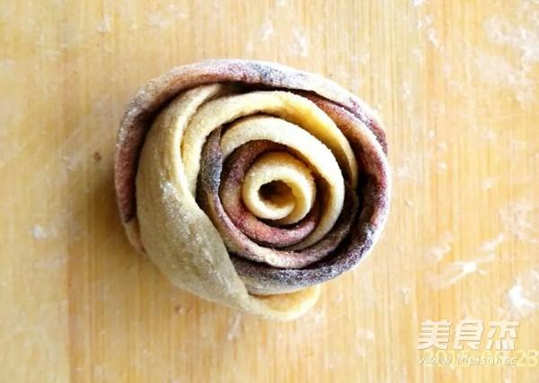红玫瑰花朵花卷馒头怎样煸
