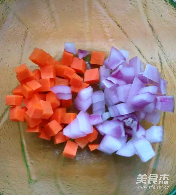 咖喱鱼丸拌饭的家常做法