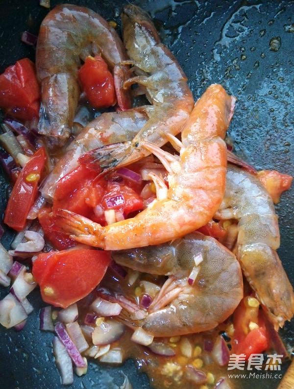 茄汁鲜虾拌意面的简单做法