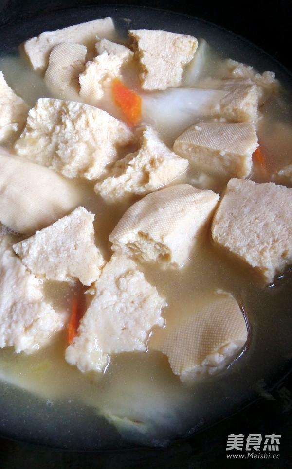 白菜海蛎子炖冻豆腐怎么吃