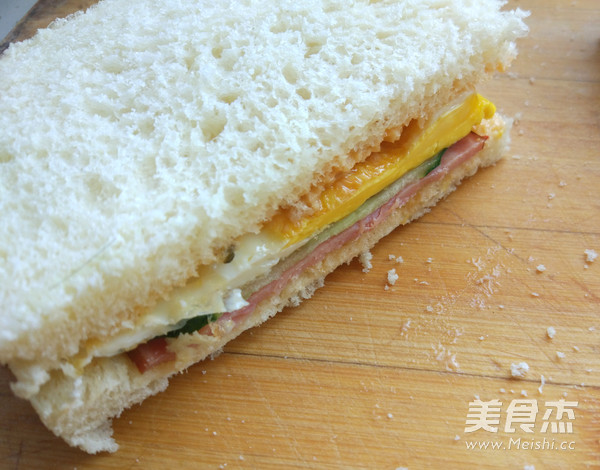 快手早餐三明治怎么吃