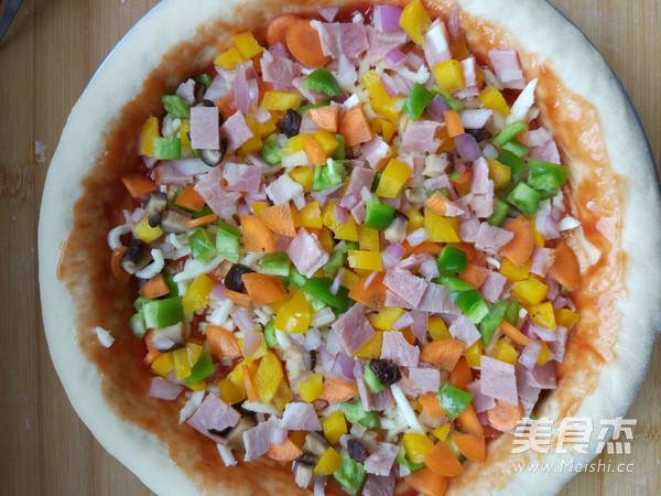 培根鲜虾披萨怎么煮