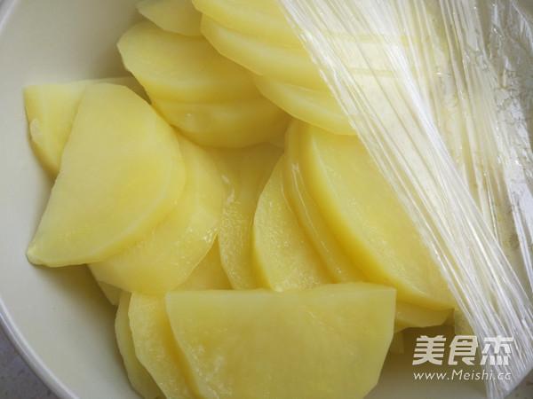 培根尖椒焗土豆泥的做法图解