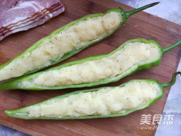 培根尖椒焗土豆泥怎么做