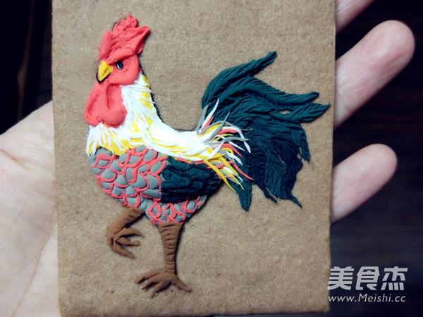 鸡年大吉翻糖饼干的制作方法