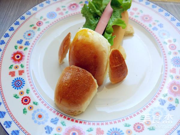 卡通热狗面包的制作