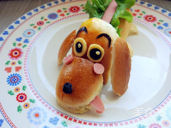 卡通热狗面包的制作方法