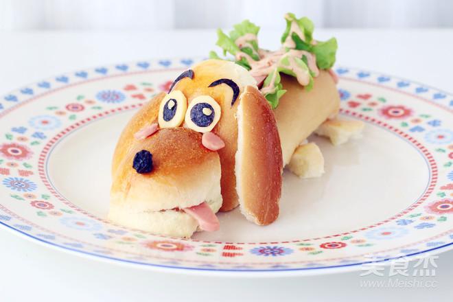 卡通热狗面包成品图