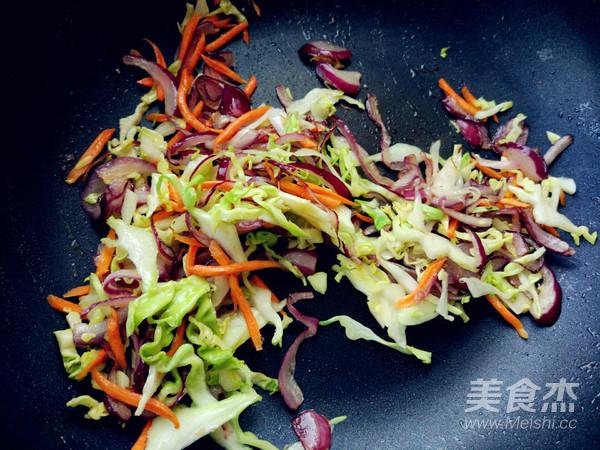 蔬菜酱油炒面(挂面版)怎么做