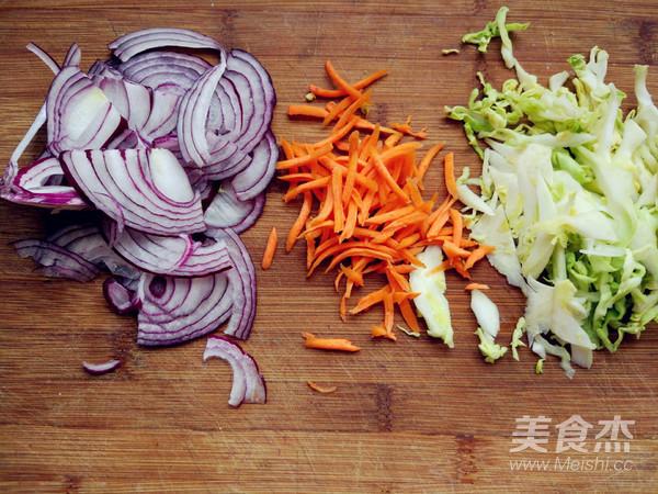 蔬菜酱油炒面(挂面版)的做法图解