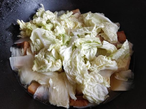 白菜炖冻豆腐怎么炖