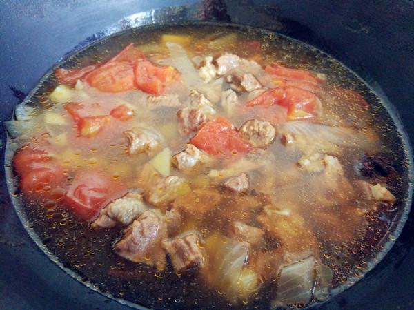 番茄土豆牛肉汤怎么炒