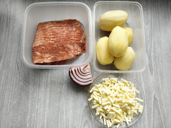 芝士培根焗土豆泥的步骤