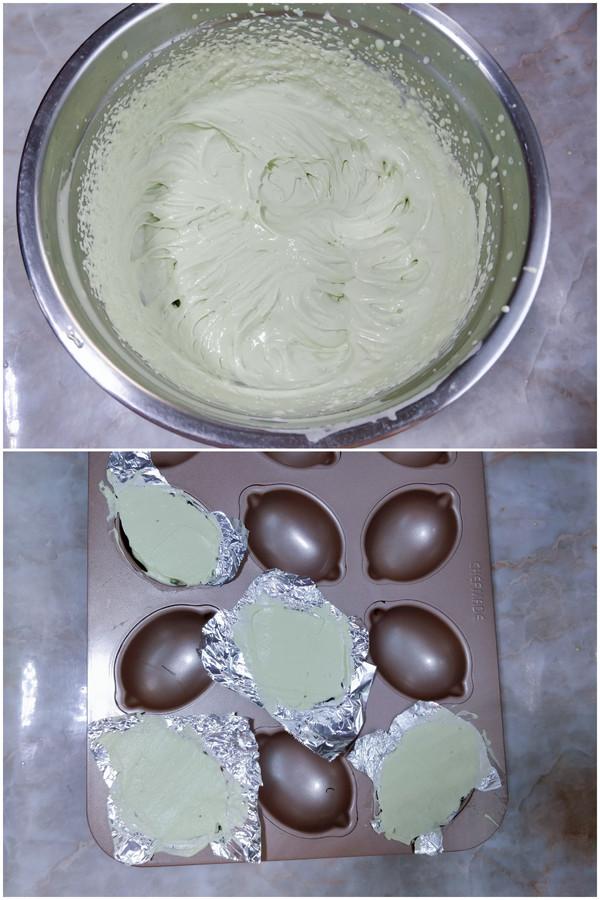 仿真牛油果抹茶冰淇淋的家常做法