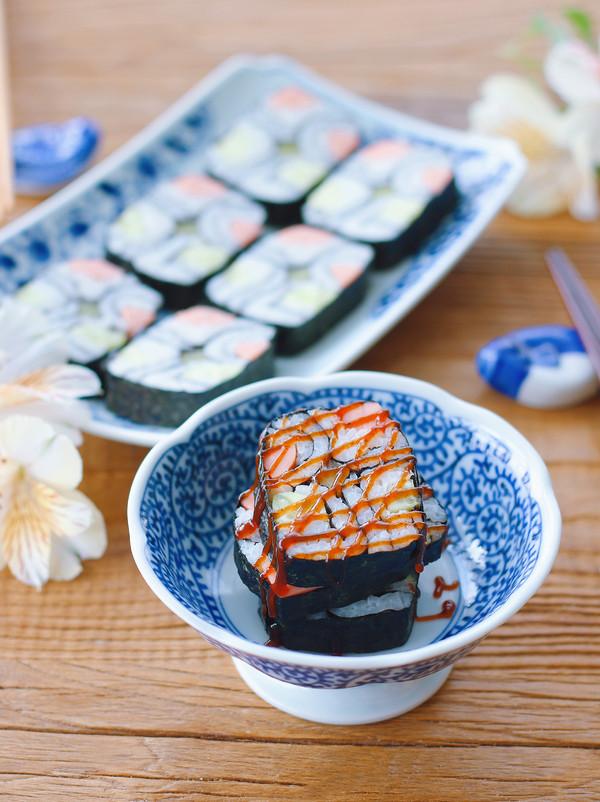 脱糖花式寿司成品图