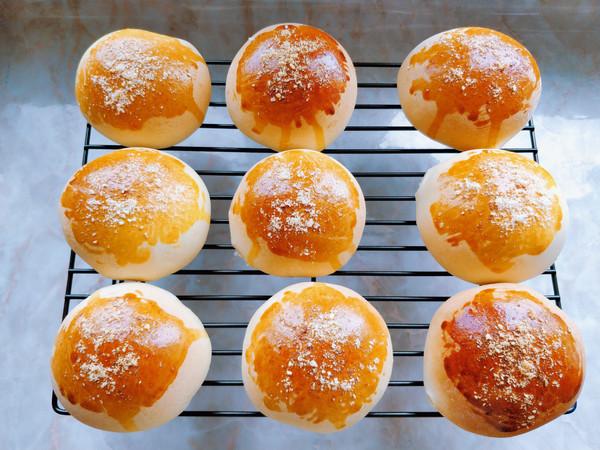 蛋黄肉松麻薯红豆芋泥包的做法大全