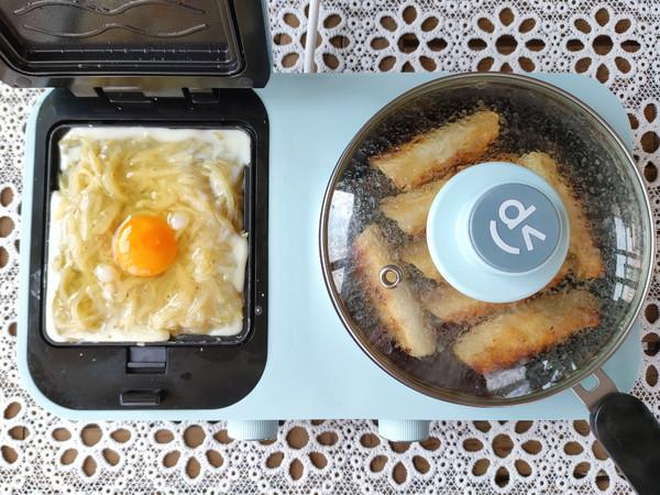 猪肉锅贴、土豆丝鸡蛋饼、南瓜小米粥怎样炒
