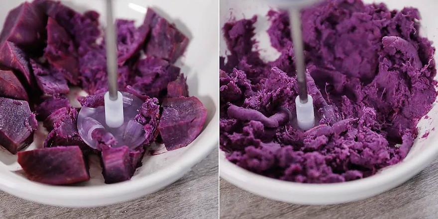 软软的紫薯小餐包,谁不喜欢?的做法图解