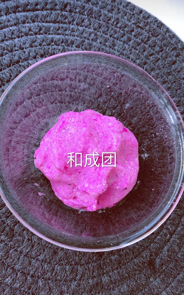 【团团圆圆】火龙果夹心奶球的家常做法